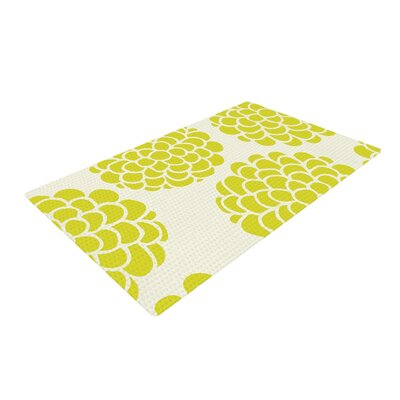 Pom Graphic Design Grape Blossoms Circles Yellow Area Rug Rug Size: 4 x 6