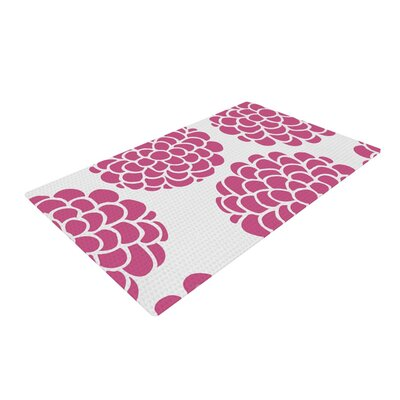 Pom Graphic Design Raspberry Blossoms Magenta/Pink Area Rug Rug Size: 2 x 3