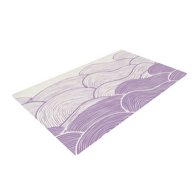 Pom Graphic Design the Lavender Seas Waves Purple Area Rug Rug Size: 2 x 3