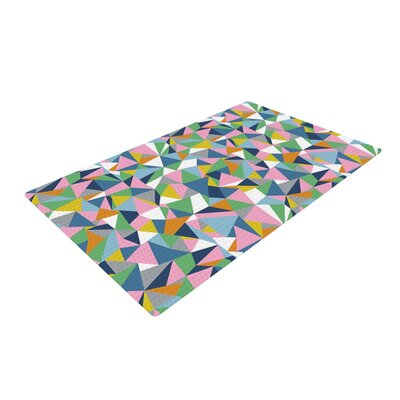 Project M Abstraction Rainbow/Pink Area Rug Rug Size: 2 x 3