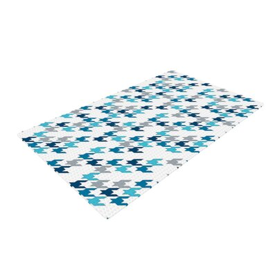 Project M Tooth Navy/White Area Rug Rug Size: 2 x 3