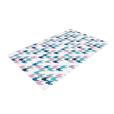 Project M Tooth Blue/Pink Area Rug Rug Size: 4 x 6