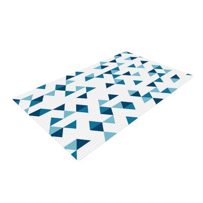 Project M Triangles Blue Navy/White Area Rug Rug Size: 4 x 6