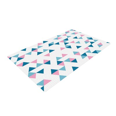 Project M Triangles Blue/Pink Area Rug Rug Size: 4 x 6