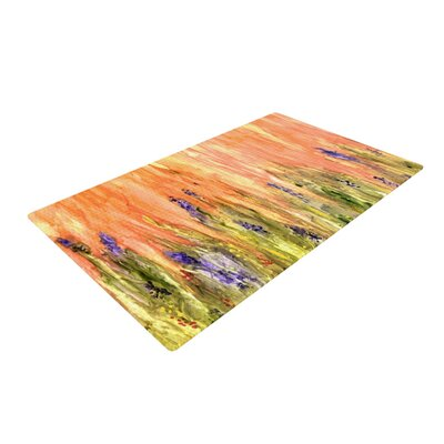 Rosie Brown Welcome Spring Orange/Green Area Rug Rug Size: 2 x 3