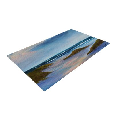 Rosie Brown Wet Sand Beach View Blue Area Rug Rug Size: 2 x 3