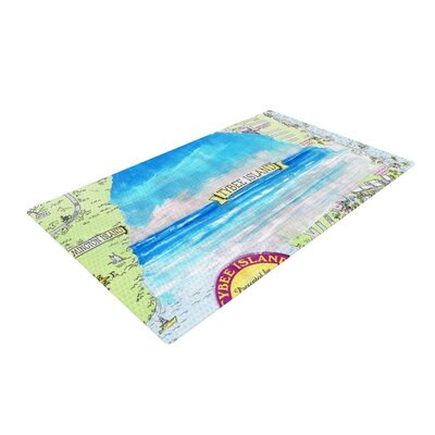 Rosie Brown Tybee Island Ocean View Blue Area Rug Rug Size: 4 x 6