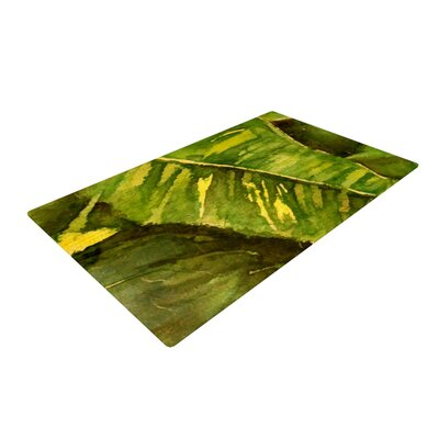 Rosie Brown Tropical Garden Leaf Green Area Rug Rug Size: 2 x 3