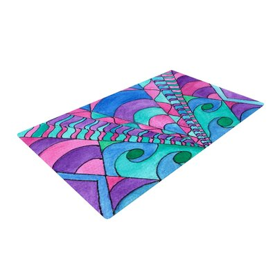 Rosie Brown Gatsby Inspired Blue/Pink Area Rug Rug Size: 2 x 3