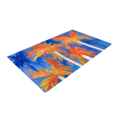 Rosie Brown Florida Autumn Blue/Orange Area Rug Rug Size: 4 x 6
