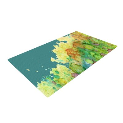Rosie Brown Sea Life II Teal/Green Area Rug Rug Size: 4 x 6