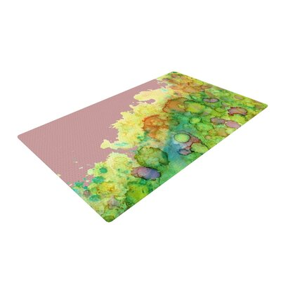 Rosie Brown Sea Life III Green/Pink Area Rug Rug Size: 4 x 6
