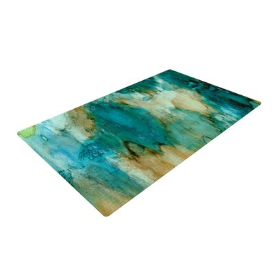 Rosie Brown Waterfall Teal/Blue Area Rug Rug Size: 2 x 3