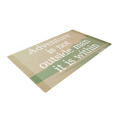 Rachel Burbee Adventure Typography Nature Area Rug Rug Size: 2 x 3
