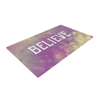 Rachel Burbee Believe Clouds Purple Area Rug Rug Size: 4' x 6'