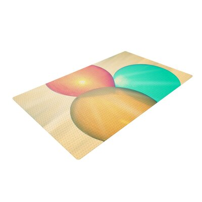 Robin Dickinson Balloons Clouds Tan Area Rug Rug Size: 2 x 3