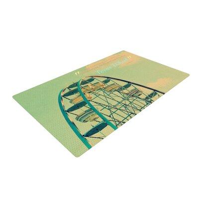 Robin Dickinson Ferris Wheel Green/Yellow Area Rug Rug Size: 2 x 3