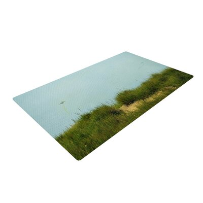 Robin Dickinson Hand in Hand Green/Blue Area Rug Rug Size: 2 x 3