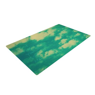 Robin Dickinson I Love That You Love Me Green/Blue Area Rug Rug Size: 4 x 6