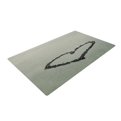 Robin Dickinson I Love the Beach Ocean Sand Gray Area Rug Rug Size: 2 x 3