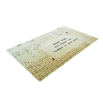 Robin Dickinson Reach High Brick Wall Cream Area Rug Rug Size: 2 x 3