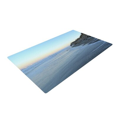 Robin Dickinson Sand Surf Sunshine Beach Blue Area Rug Rug Size: 4 x 6
