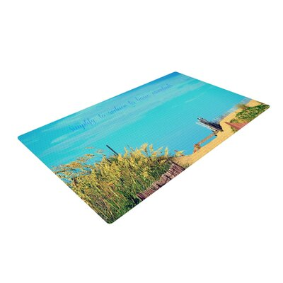 Robin Dickinson Simplify Beach Sky Blue/Green Area Rug Rug Size: 4 x 6