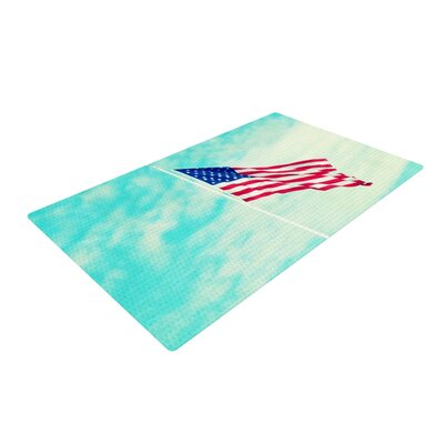 Robin Dickinson USA Colors Flag Blue/Red Area Rug Rug Size: 2 x 3