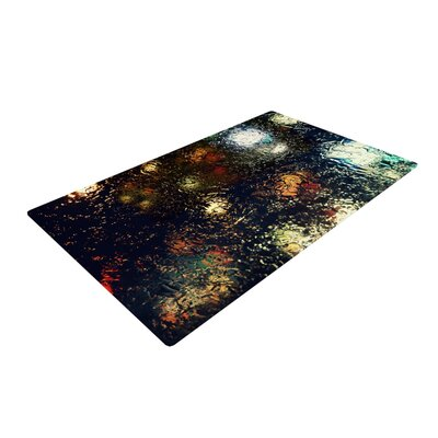 Robin Dickinson Blinded Water Black Area Rug Rug Size: 2 x 3