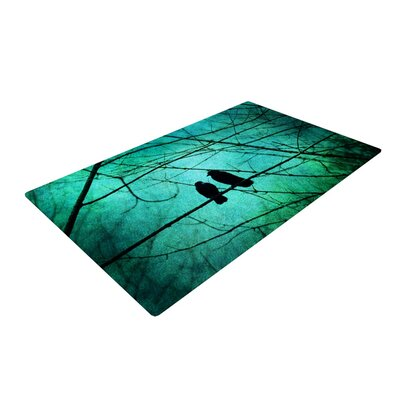 Robin Dickinson Smitten Blue/Green Area Rug Rug Size: 4 x 6