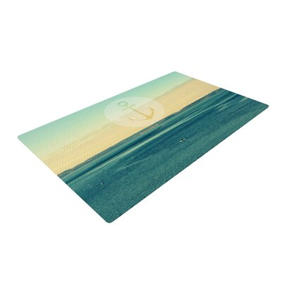 Robin Dickinson Row Your Own Boat Ocean Teal Area Rug Rug Size: 2 x 3