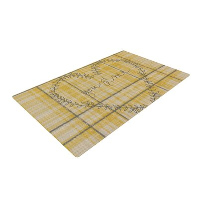 Robin Dickinson You and Me Yellow Area Rug Rug Size: 2' x 3'