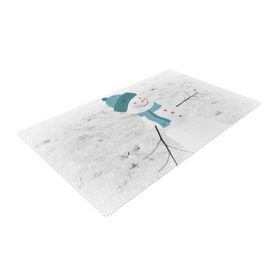 Robin Dickinson Frosty White Area Rug Rug Size: 2' x 3'