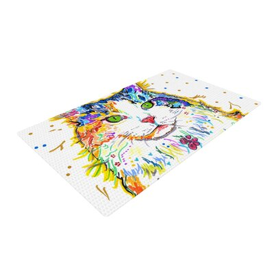Rebecca Fischer Royal Cat Rainbow Area Rug Rug Size: 2 x 3