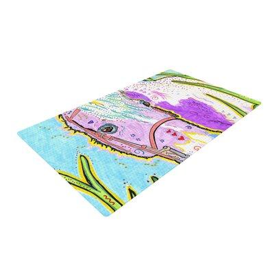 Rebecca Fischer Nemo Horse Blue/Purple Area Rug Rug Size: 4 x 6