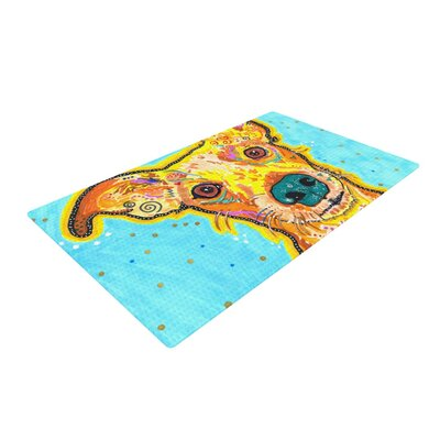 Rebecca Fischer Tanner Terrier Blue/Yellow Area Rug Rug Size: 4 x 6