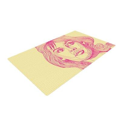 Roberlan Bardot Girl Pink Area Rug Rug Size: 4 x 6