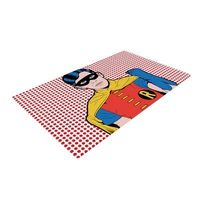 Roberlan the Boy Wonder Pop Robin Pink/Red Area Rug Rug Size: 4 x 6