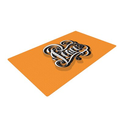 Roberlan Peace Orange Area Rug Rug Size: 2 x 3