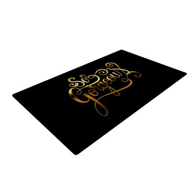 Roberlan So Gorgeous Gold/Black Area Rug Rug Size: 4 x 6
