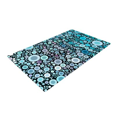 Sylvia Cook Aquatic Circles Blue Area Rug Rug Size: 4 x 6