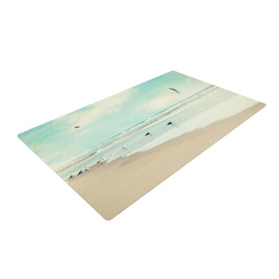 Sylvia Cook Away We Go Beach Seagull Blue/Brown Area Rug Rug Size: 2 x 3