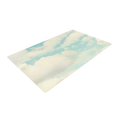 Sylvia Cook Clouds Blue/White Area Rug Rug Size: 2 x 3