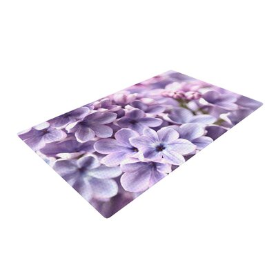 Sylvia Cook Flowers Purple Area Rug Rug Size: 2 x 3