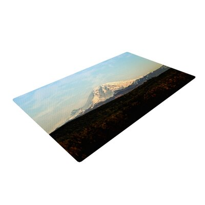 Sylvia Cook Mt. Rainier Mountain Photo Blue Area Rug Rug Size: 2 x 3