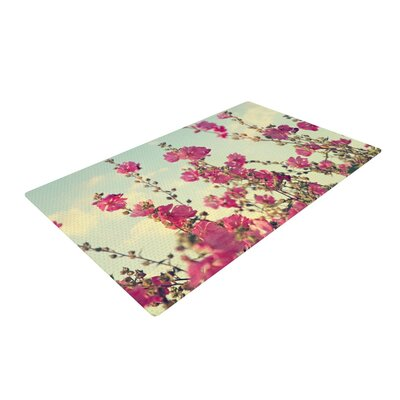 Sylvia Cook Lavatera Flowers Sky Pink Area Rug Rug Size: 2 x 3
