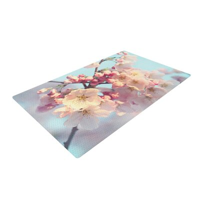 Sylvia Cook Waiting for Spring Pink/Blue Area Rug Rug Size: 4 x 6