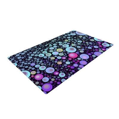 Sylvia Cook Deep Purple/Aqua Area Rug Rug Size: 4 x 6