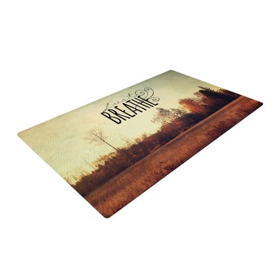 Sylvia Cook Just Breathe Brown/Tan Area Rug Rug Size: 4 x 6