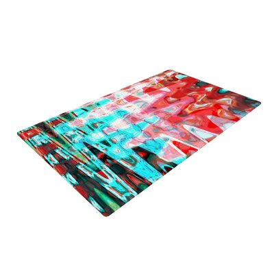 Suzanne Carter Abstract Wave Aqua Area Rug Rug Size: 4 x 6